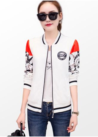 Jackets . Chic Printed Jacket for Women -