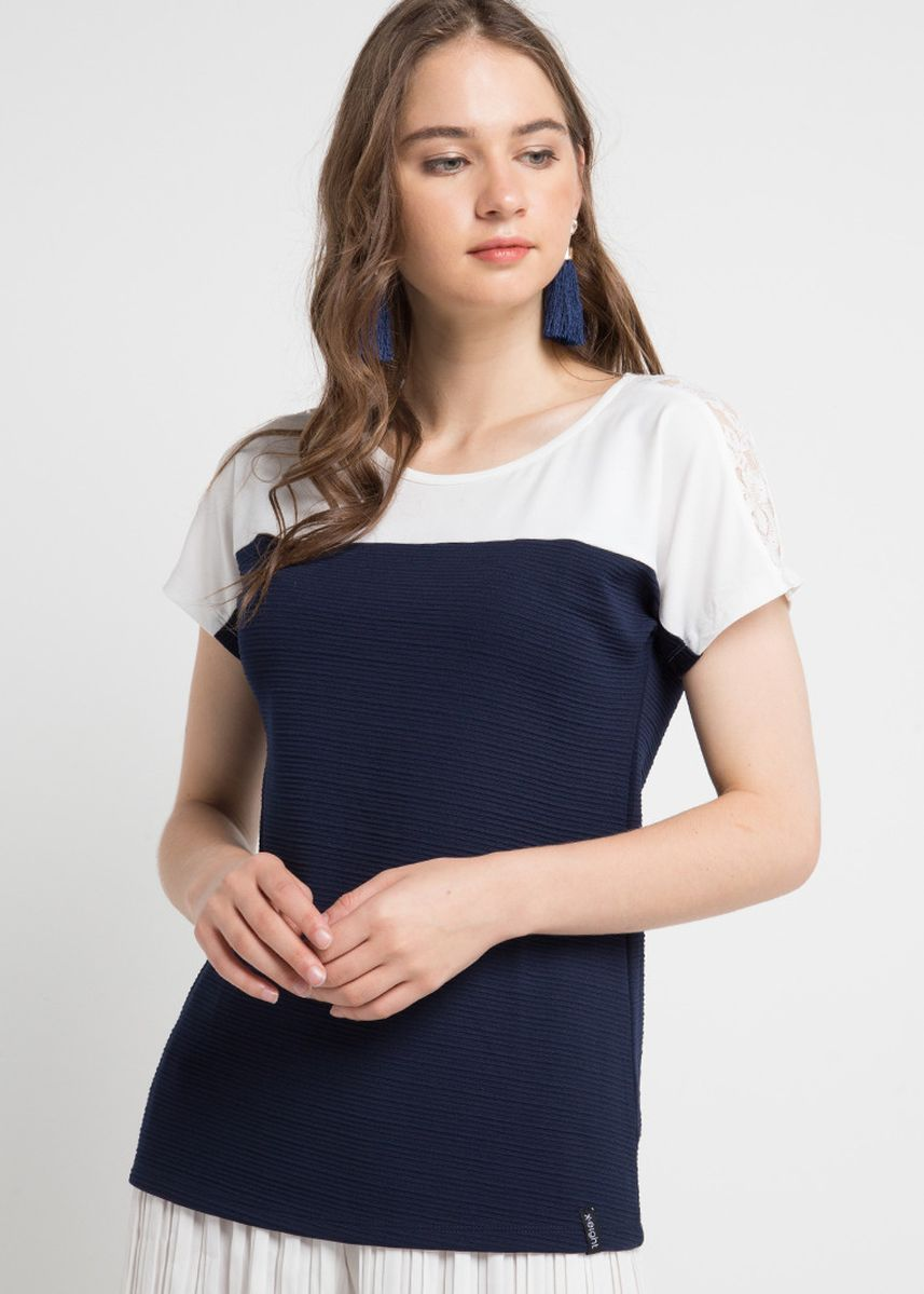 Navy color Tops and Tunics . X8 Cecelia Tops -