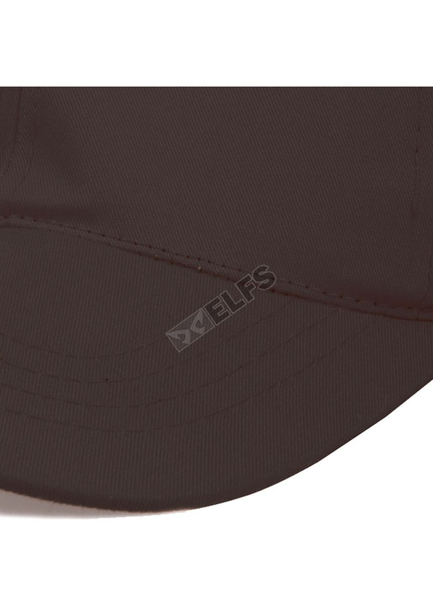 Brown color Hats and Caps . ELFS Topi Baseball Unisex Twill Polos Warna -