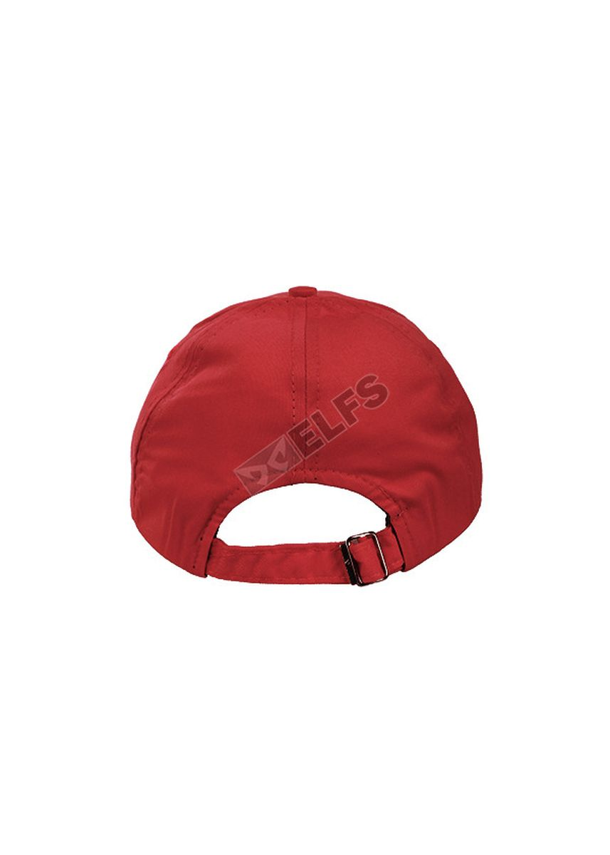 Red color Hats and Caps . ELFS Topi Baseball Unisex Twill Polos Warna -