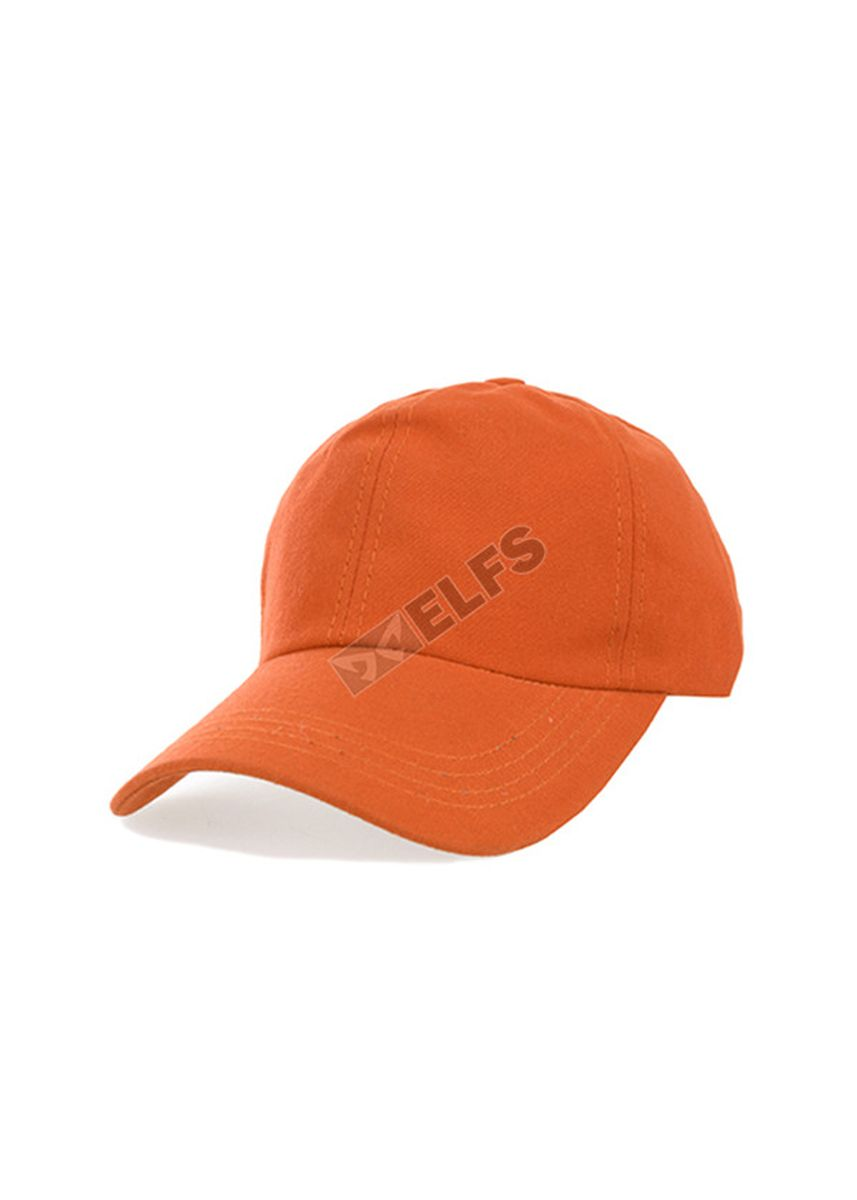 Orange color Hats and Caps . ELFS Topi Baseball Unisex Canvas Swiding Polos -