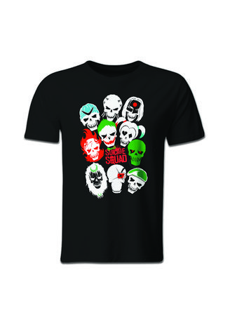 Black color T-Shirts and Polos . Guitar Apparel Suicide Squad Squad Goals Printed T-Shirt -