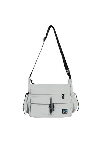 Light Grey color Messenger Bags . ELFS Tas Selempang Messenger Bag Pocket -