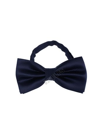 Navy color Ties . ELFS Dasi Kupu Kupu Tekstur With Box -