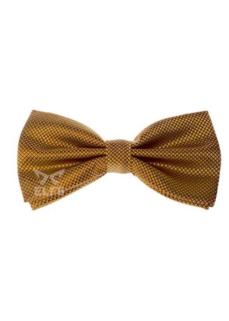 Gold color Ties . ELFS Dasi Kupu Kupu Tekstur With Box -