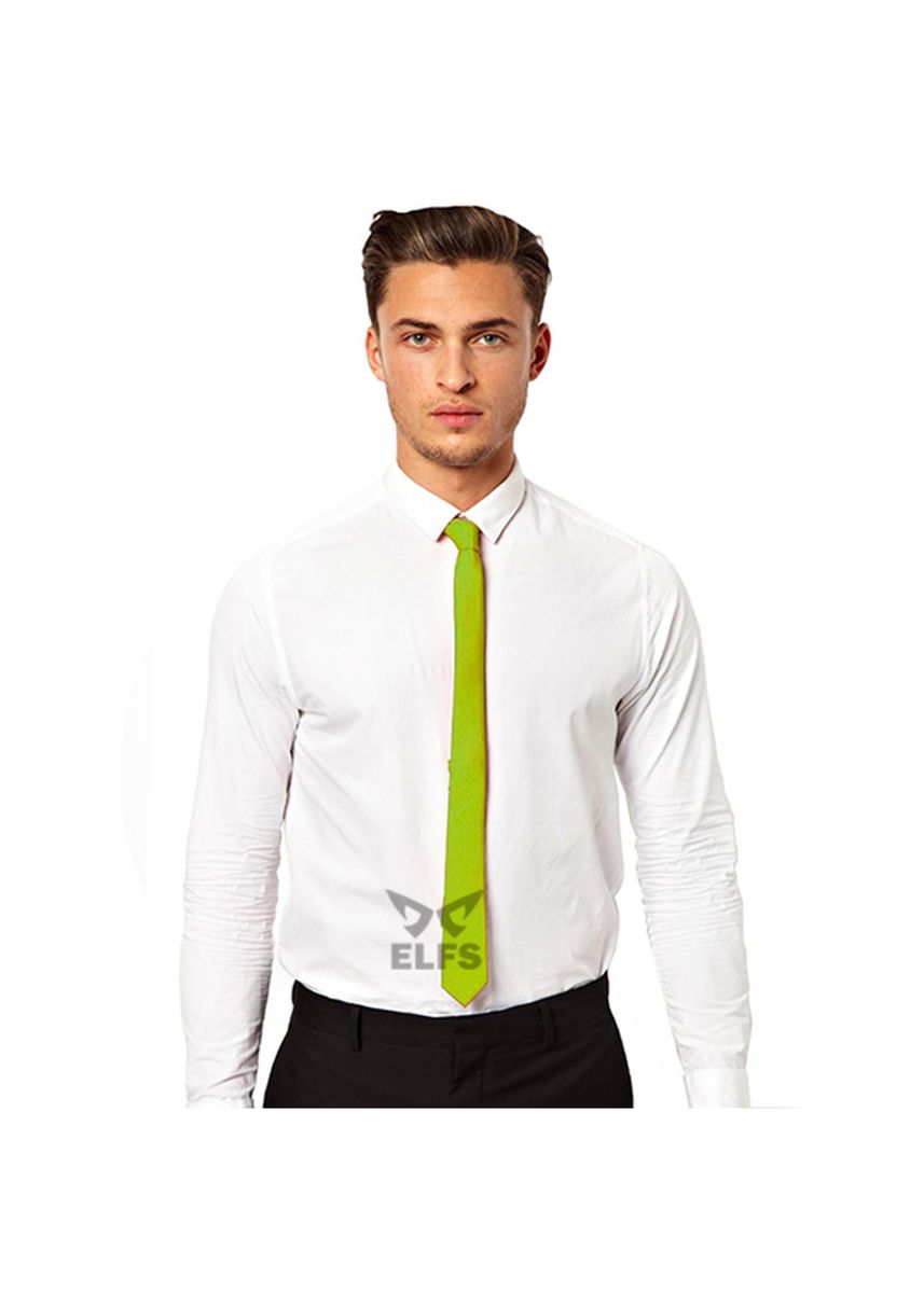 Green color Ties . ELFS Dasi Slim Formal Casual Polos -