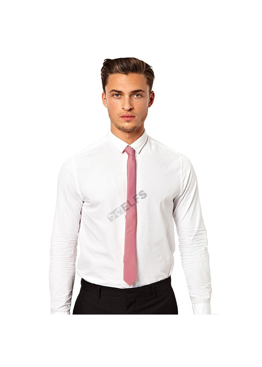 Pink color Ties . ELFS Dasi Slim Formal Casual Polos -
