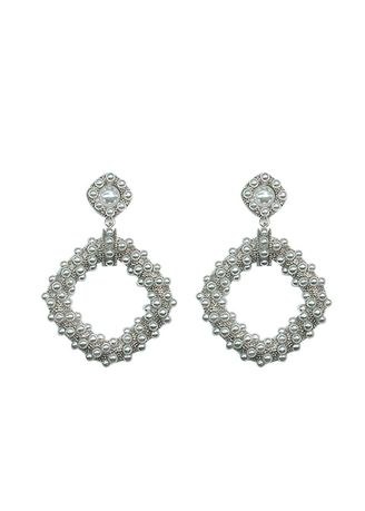 Silver color  . Contracted Earrings -