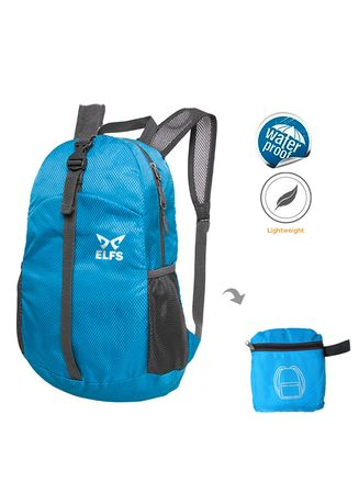 Blue color Backpacks .  ELFS Tas Ransel Lipat 20L Foldable Water Resistant Backpack 1AZD02  -