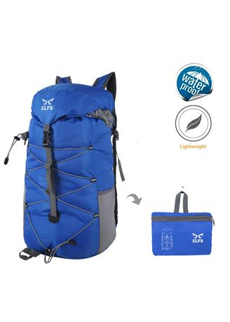 Blue color Backpacks . Tas Ransel Gunung Lipat 35L Foldable Water Resistant Carrier 019 -