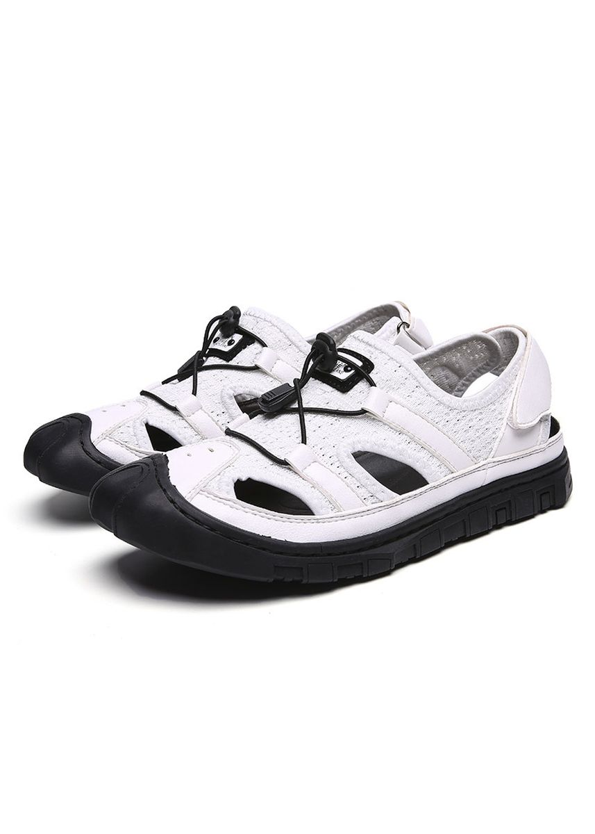 White color Sandals and Slippers . Closed Toe Men Leisure Sandals -