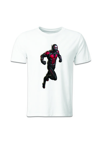 White color T-Shirts and Polos . Guitar Apparel Civil War Ant-Man Printed T-Shirt -