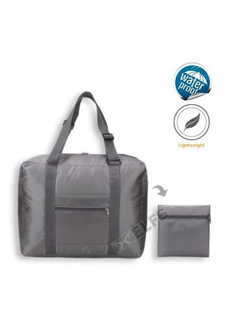 Light Grey color Duffle Bags . ELFS Tas Travel Luggage Bag Foldable Water Resistant 35L 016 -