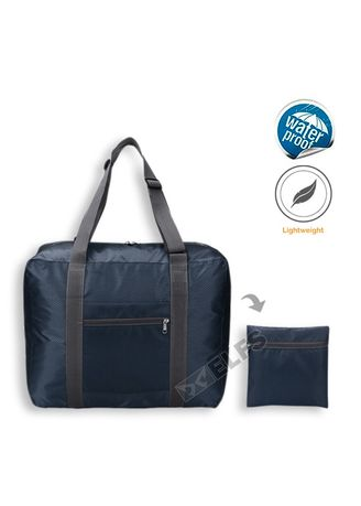 Navy color Duffle Bags . ELFS Tas Travel Luggage Bag Foldable Water Resistant 35L 016 -