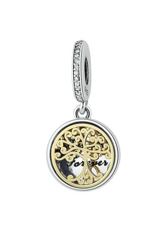 . Sterling Silver Family Life Tree Pendant -