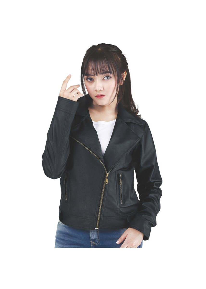 Black color Jackets . Jaket Kasual Wanita Catenzo NU 141 -