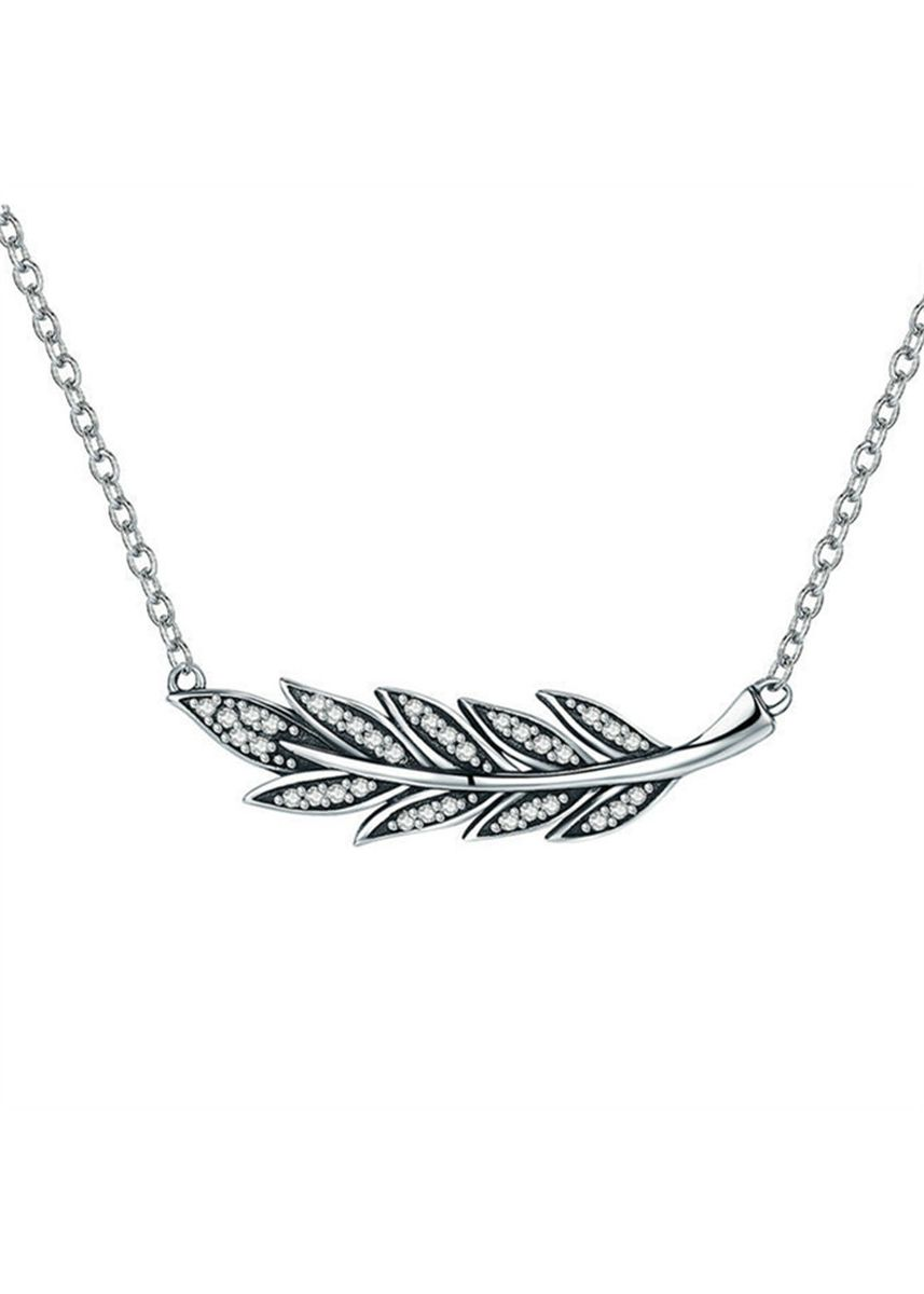 Silver color  . Lady's Sterling Silver Necklace -