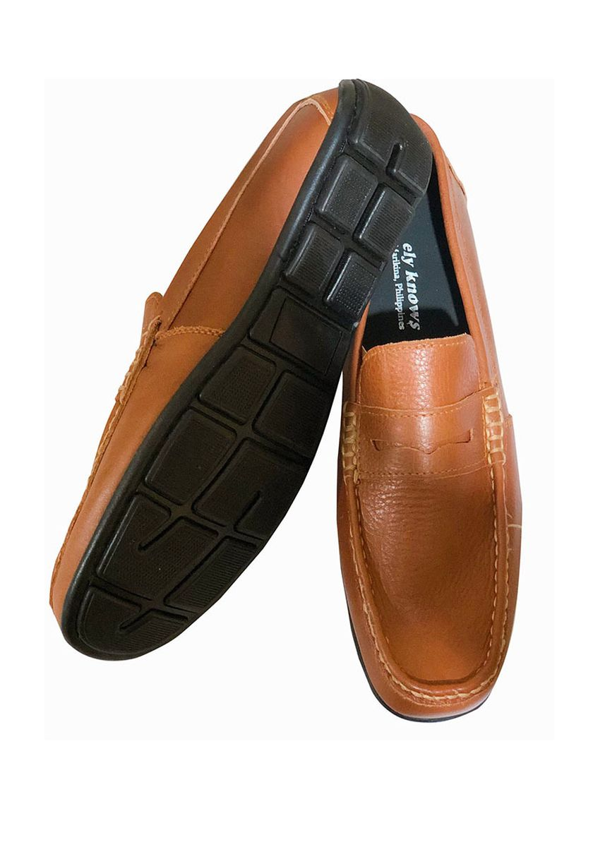 Tan color Casual Shoes . Ely-Knows Men's Loafers -