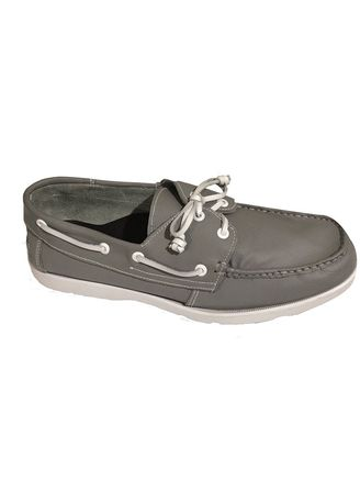 Grey color Casual Shoes . Ely-Knows Men's Boat Shoes -