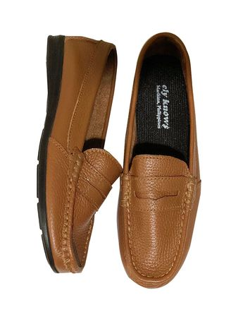 Tan color Flats . Ely-Knows Women's Loafers -