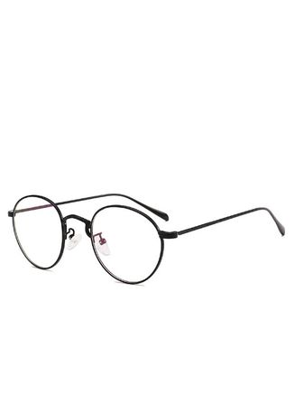 ดำ color กรอบ . Flat Glasses Frame -
