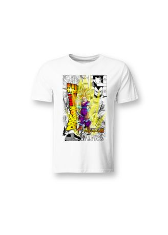 White color T-Shirts and Polos . Guitar Apparel Dragonball Super Printed T-Shirt -