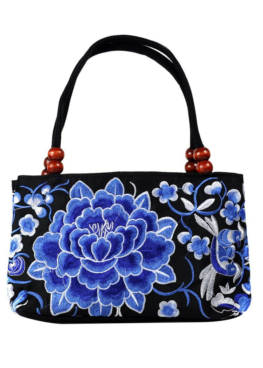 Multi color Hand Bags . Ms Embroidered Simple Atmosphere Tote -