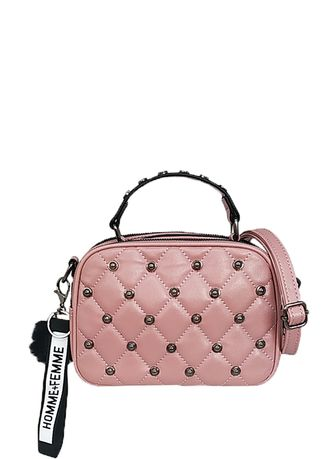 Hand Bags . Catriona Lorry studded sling bag - PINK -