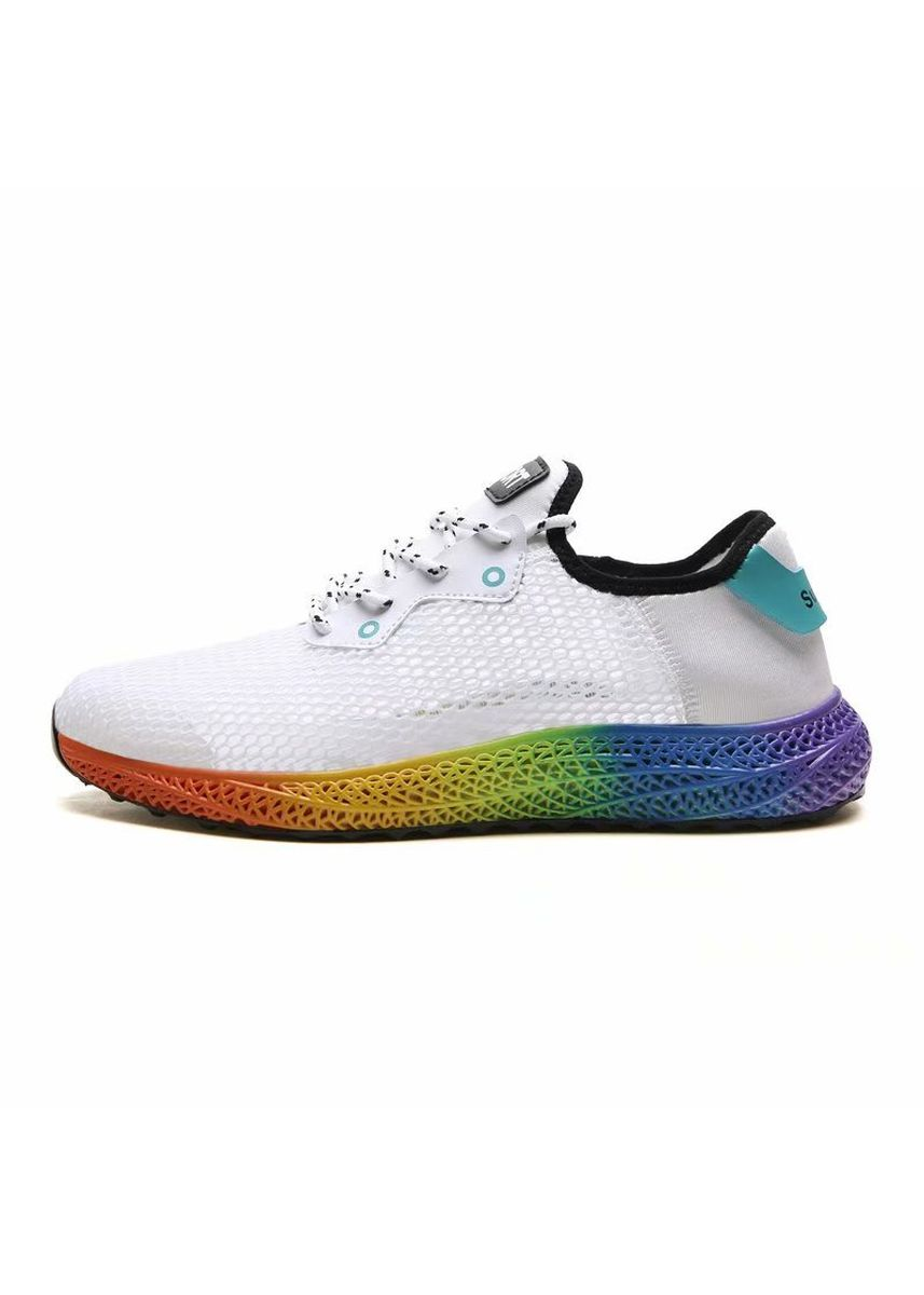 White color Sports Shoes . Men's Casual Running Sport Shoes Flats -