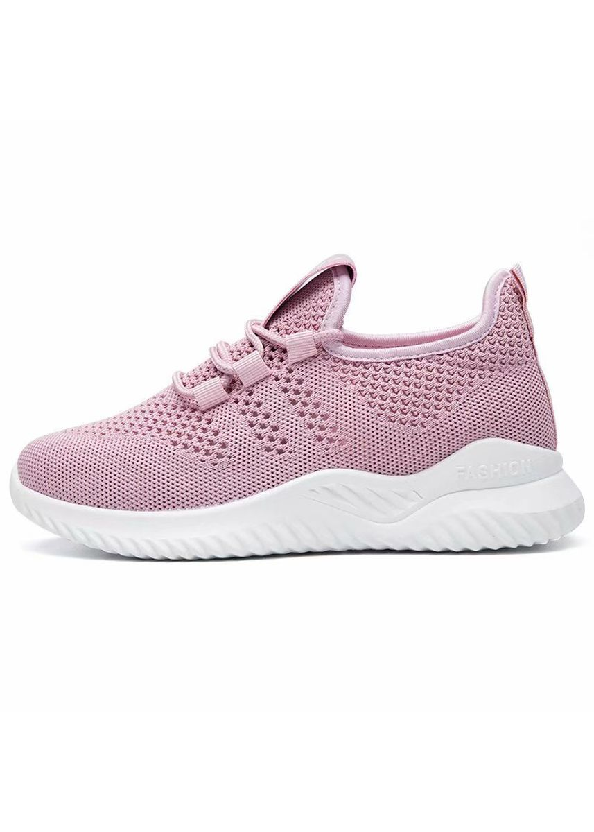 ชมพู color รองเท้ากีฬา . Women Casual Shoes Fashion Breathable Walking Mesh Flat Shoes Women Shoes -