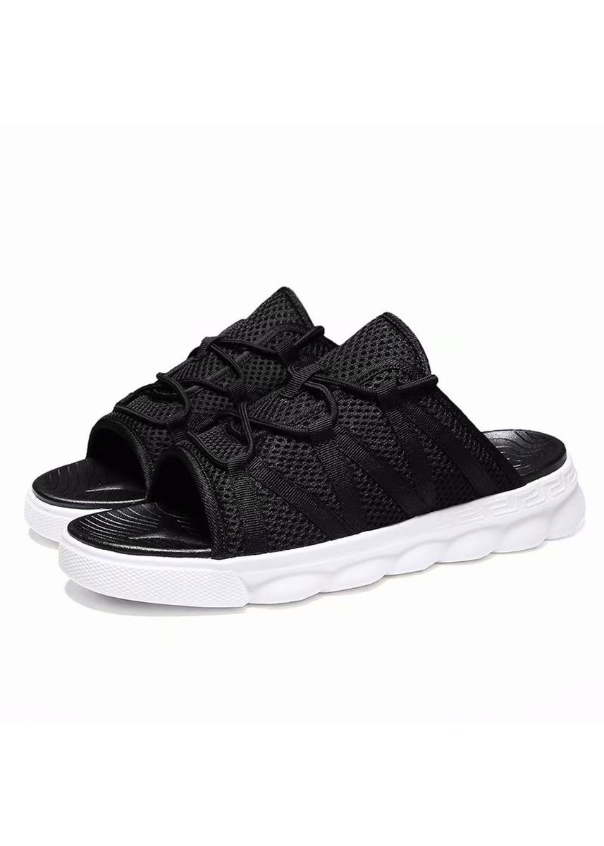 Black color Sandals and Slippers . Men Fashion Weaving Design Breathable Beach Sandals -
