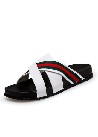 White color Sandals and Slippers . Sandals Soft Bottom -