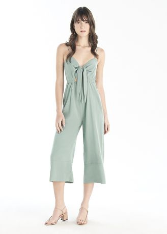 Green color Jump Suits . Key Hole Jumpsuit -