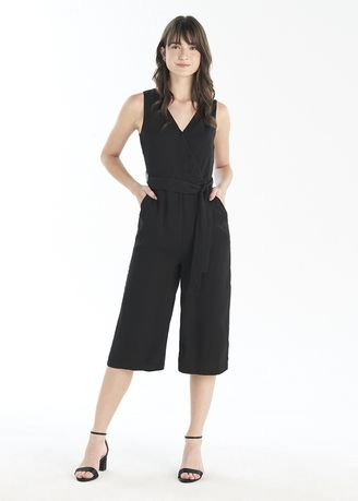 Jump Suits . V Neck Tie Belt Jumpsuit -
