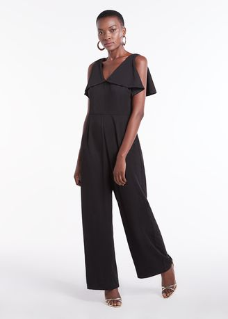 Jump Suits . Waterfall V Neck Jumpsuit -