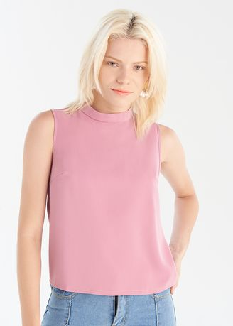 Pink color Tops and Tunics . Woven Tank Top -