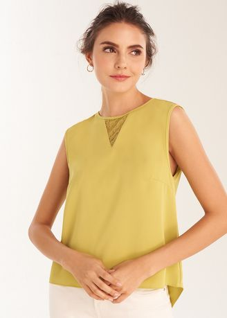 Tops and Tunics . Sleeveless V-Neck Cut Out Top -