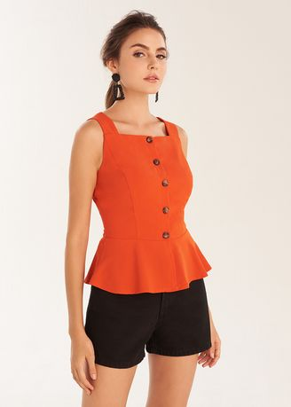 Tops and Tunics . Button Up Tank Top -