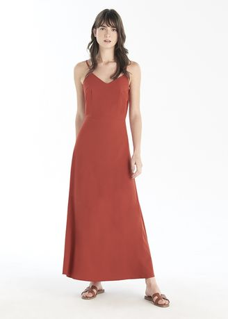 Red color Dresses . Cami Long Dress -