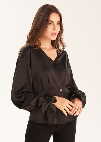 Tops and Tunics . Long Sleeve With Tie Blouse -