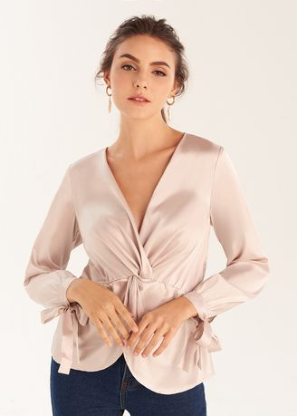 Tops and Tunics . Twist Front Blouse -