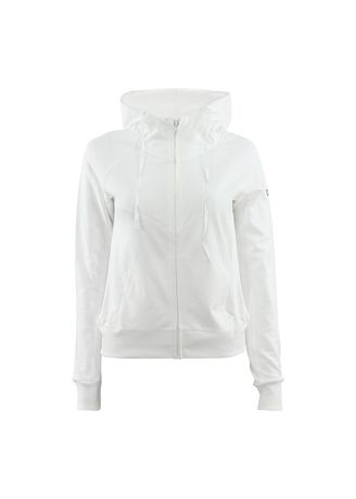 White color Sports Wear . Zip Up Hoody -