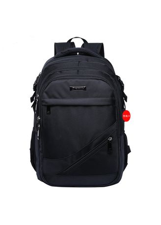 Black color Backpacks . Oxford Cloth Multi-function Male Backpack -