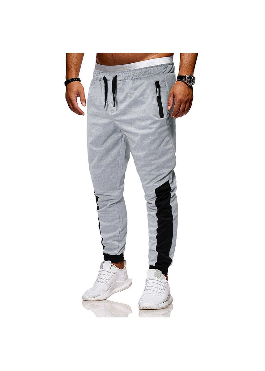 Grey color Sports Wear . Foot Restraint Exercise Fitness Pants -