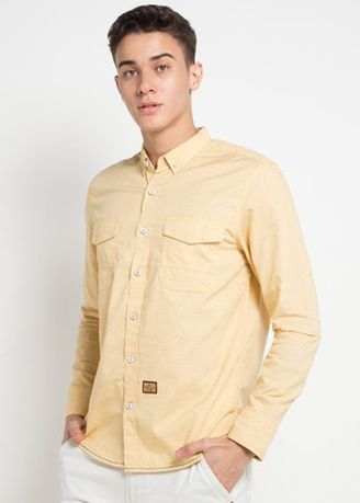 Yellow color Casual Shirts . Emba Jeans Gera One Men's Shirt in Yellow -