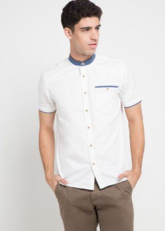 White color Casual Shirts . Emba Jeans Villo Two Men's Shirt in White -