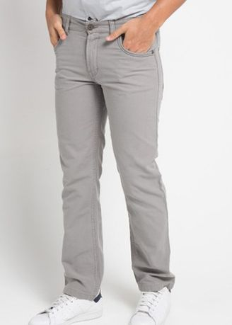 Grey color Casual Trousers and Chinos . Emba Classic Raka Men's Pants in Grey -