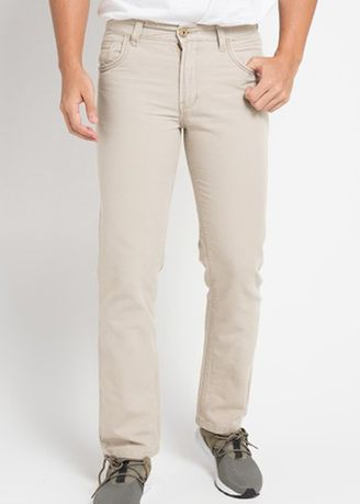 Krem color Celana Panjang Kasual . Emba Classic Raka Men's Pants in Stone -