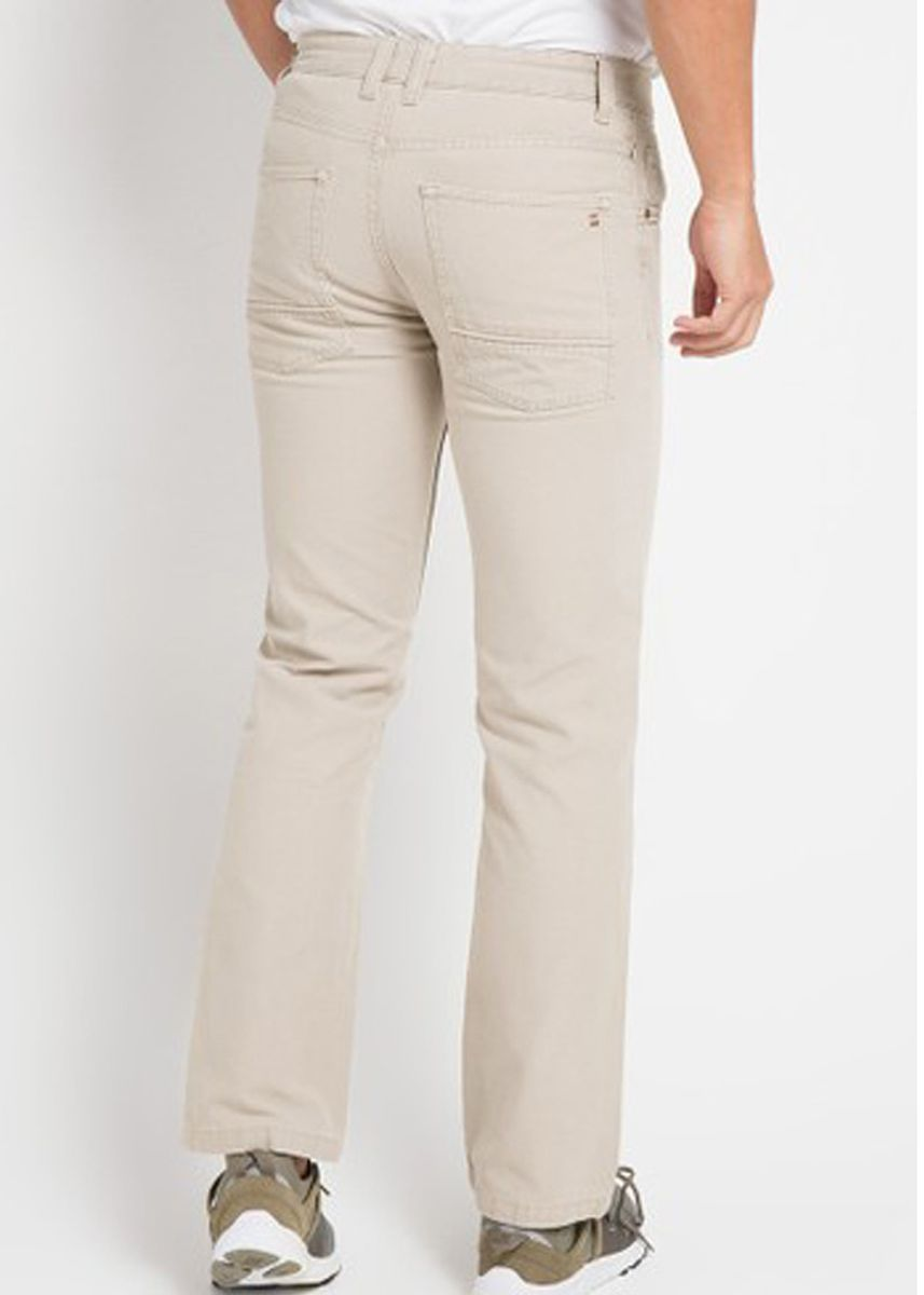 Beige color Casual Trousers and Chinos . Emba Classic Raka Men's Pants in Stone -