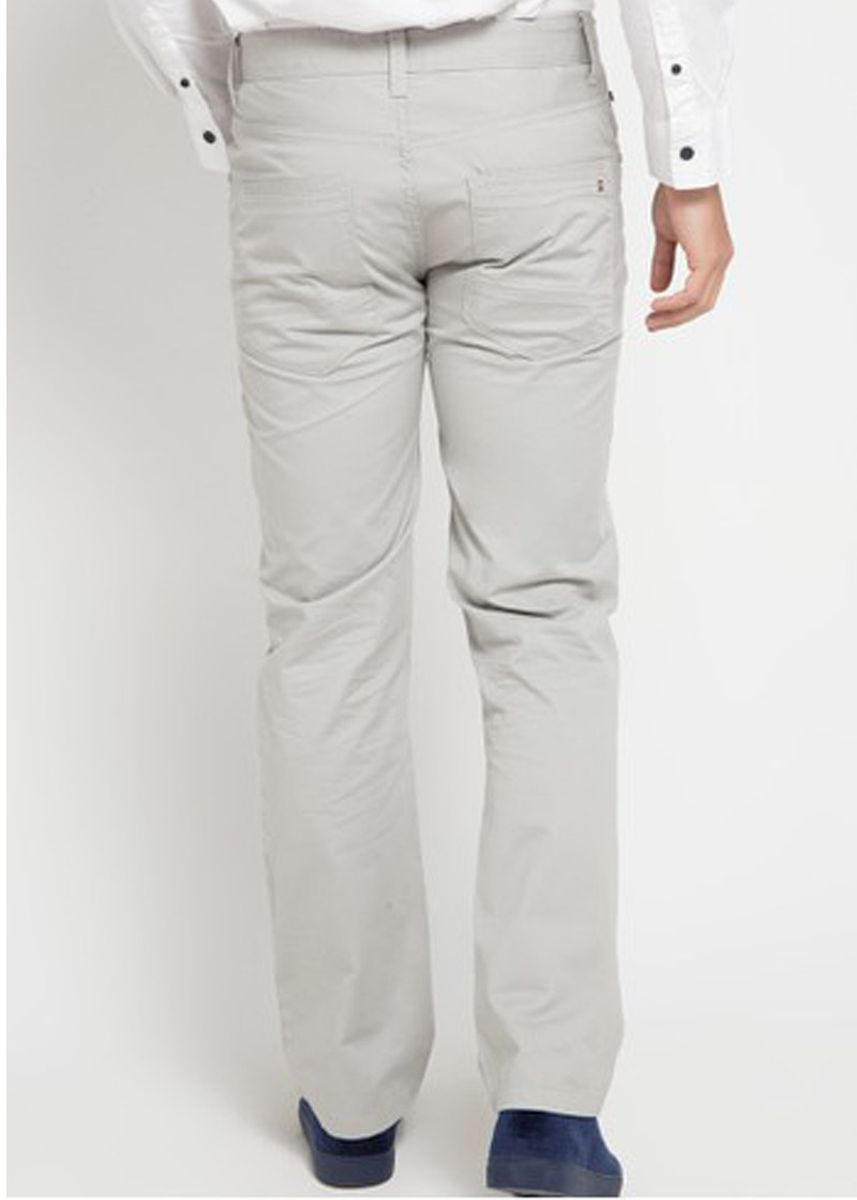 Light Grey color Casual Trousers and Chinos . Emba Classic Mozes One Men's Pants in Grey -